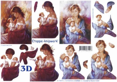 3D Bogen Maria und Kind