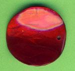 Capiz-Schmuckelement rund 30mm rot