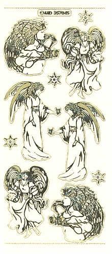 Sticker Engel 5 gold