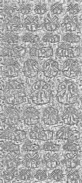 Sticker Päckchen silber hologramm