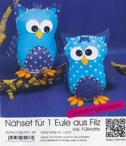 euf5212sbp5749_Filz-Nähset-Eule-mittel-türkis-blau