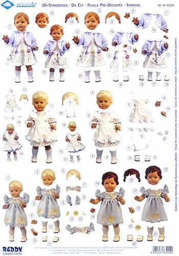 3D-Stanzbogen Schildkröt Puppen 4