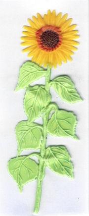 Wachsdekor Sonnenblume 12,5cm