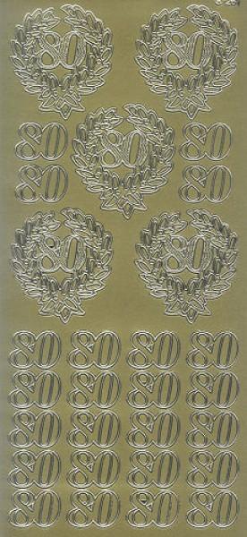 Sticker 80 gold