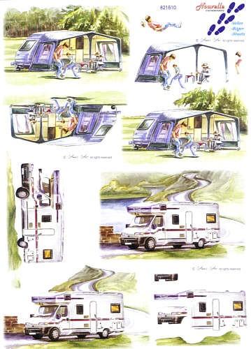 Motivbogen Camping