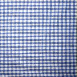 Vlies Tischband blaukariert 1m
