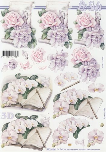 Motivbogen Blumen Kondolenz II