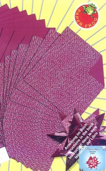 Glanzpapier Schnipsel weinrot 15x15cm 32Blatt