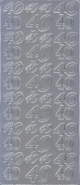Sticker 40 silber