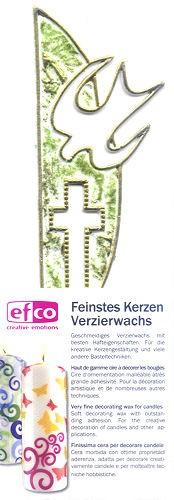 Wachsdekor Kreuz Taube grün gold