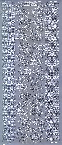 Sticker Weihnachtsecken und Linien 4 silber