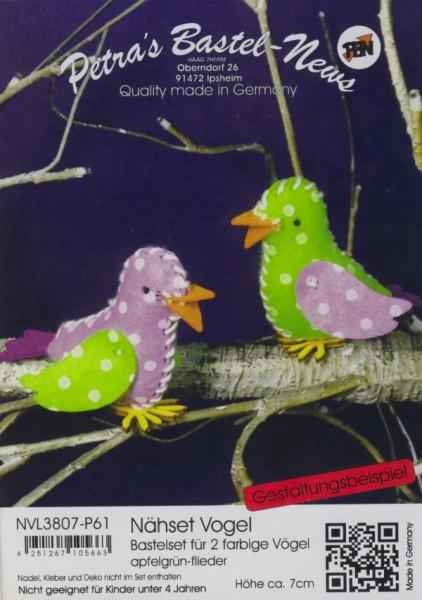 Filz-Nähset Vogel apfelgrün-flieder