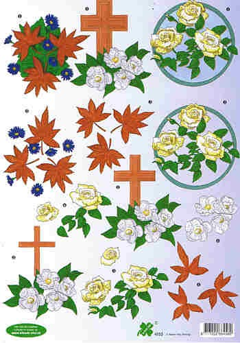 Motivbogen Kreuz Blumen