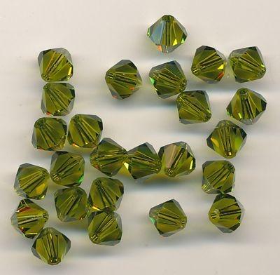 Swarovski Glasschliffperlen 6mm olive