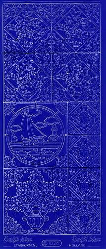 Sticker Segelschiff blau