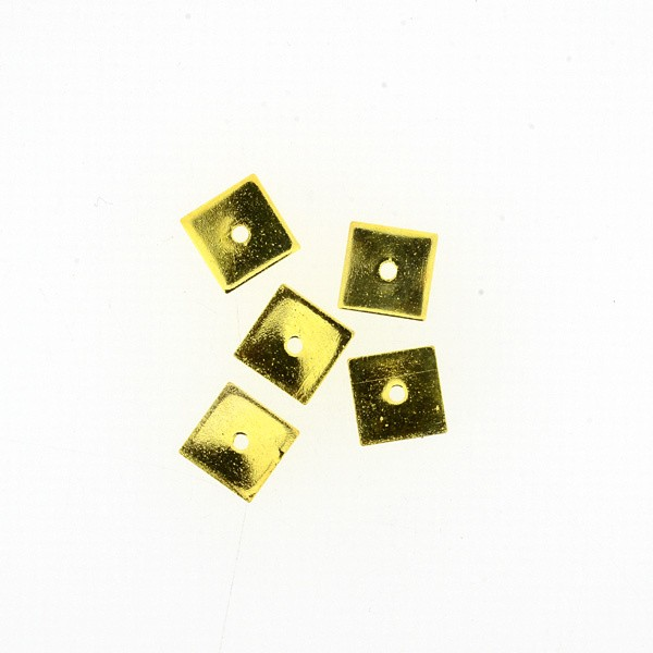 Metallzwischenteil gold 1x8x8mm 10 Stück