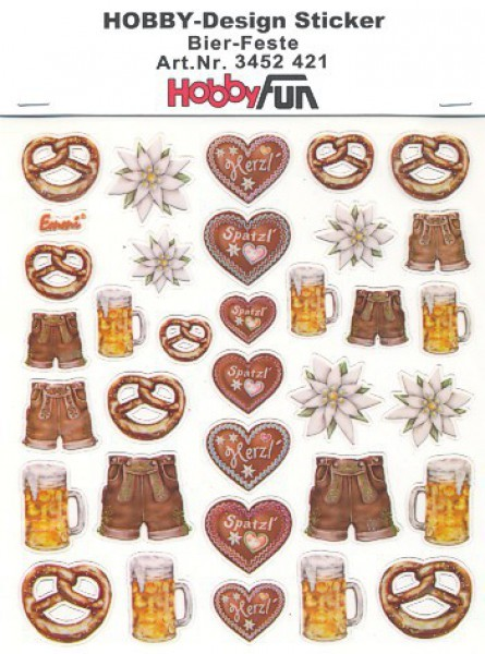 Hobby-Design Sticker Bier-Feste