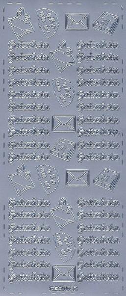 Sticker Gutschein 2 silber