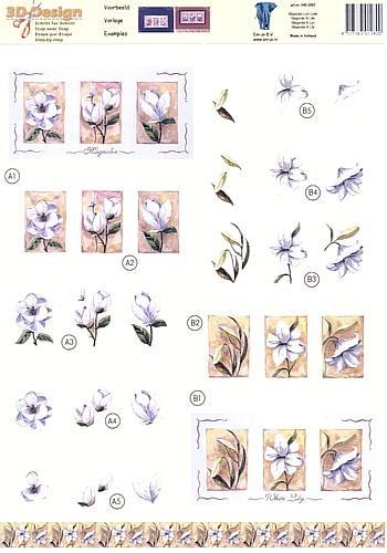 Motivbogen White Lilly