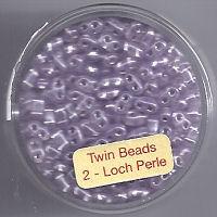 Twin-Beads hell amethyst silbereinzug 12g