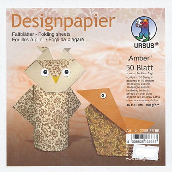 Designpapier Faltblätter Amber 50 Blatt