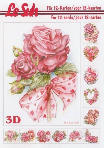 3D Motivbuch Rosen A5