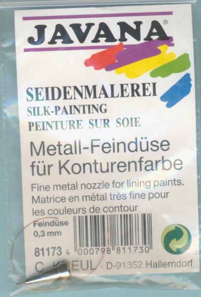 81173 Metall Feindüse 0,3mm für Konturenfarbe Seidenmalerei