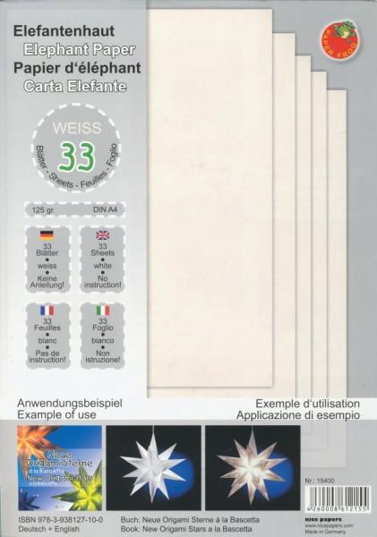 1625903_Elefantenpapier-weiß-für-Origami-Sterne-DIN-A4-125g-qm-33-Blatt