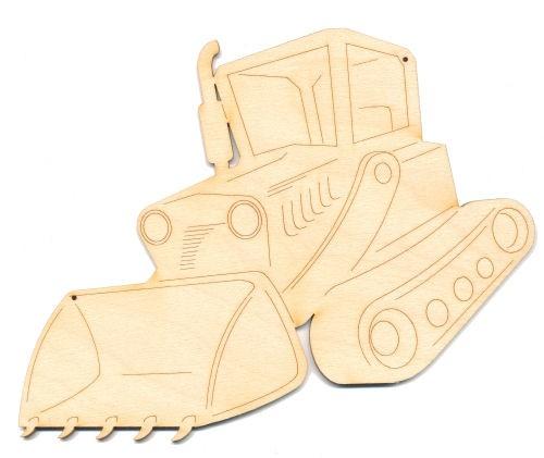 Holz-Deko Raupenfahrzeug 20cm