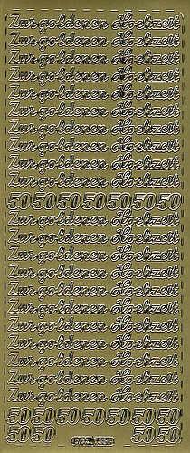 Sticker Goldene Hochzeit