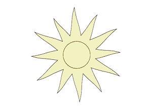 Holz-Deko ganze Sonne 5cm
