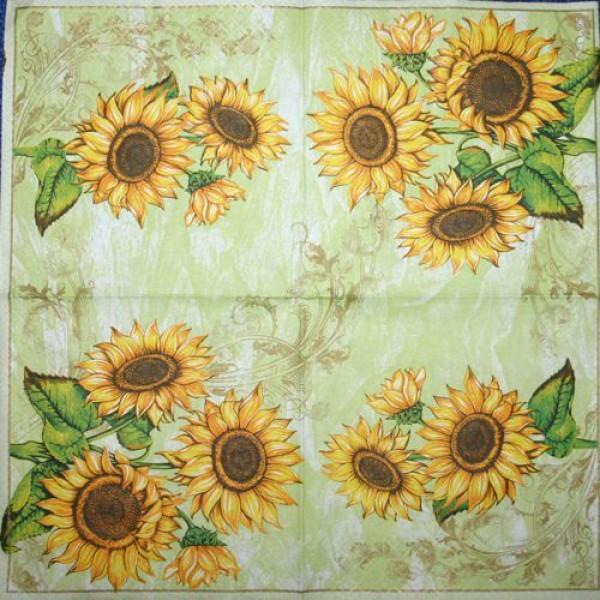 Serv. Sonnenblumen hellgrün