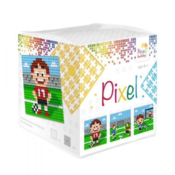 Pixel-Set kleine Basisplatte Fussball