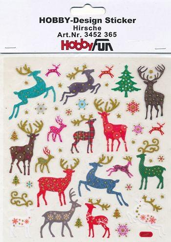 Hobby-Design Sticker Hirsche