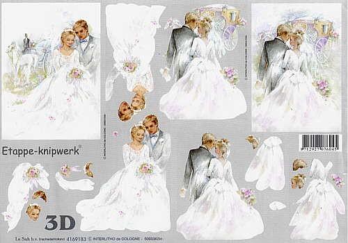 Motivbogen Hochzeitspaar