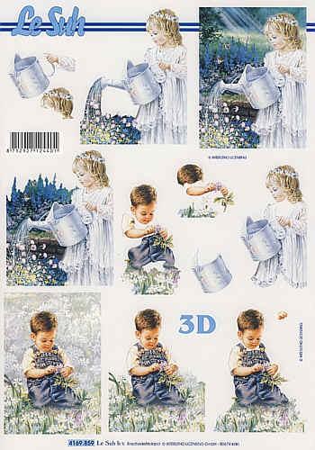 3D-Motivbogen Kinder im Garten