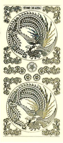 Sticker Dragonbird gold