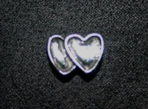 Metallperle Charms Herzen silber
