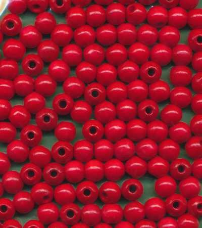 Holzperlen 6mm rot