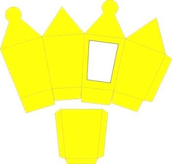 3D-Laternenbox gelb