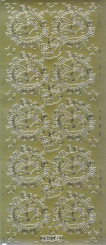 Sticker Frohe Weihnachten 14 gold