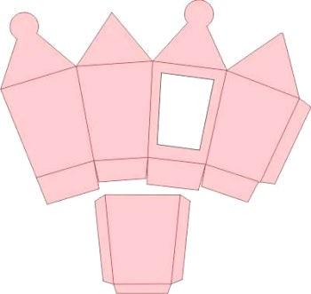 3D-Laternenbox rosa