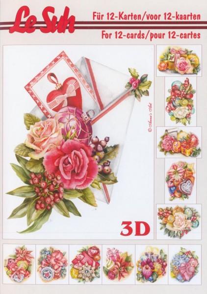 3D Motivbuch Weihnachten Rosen