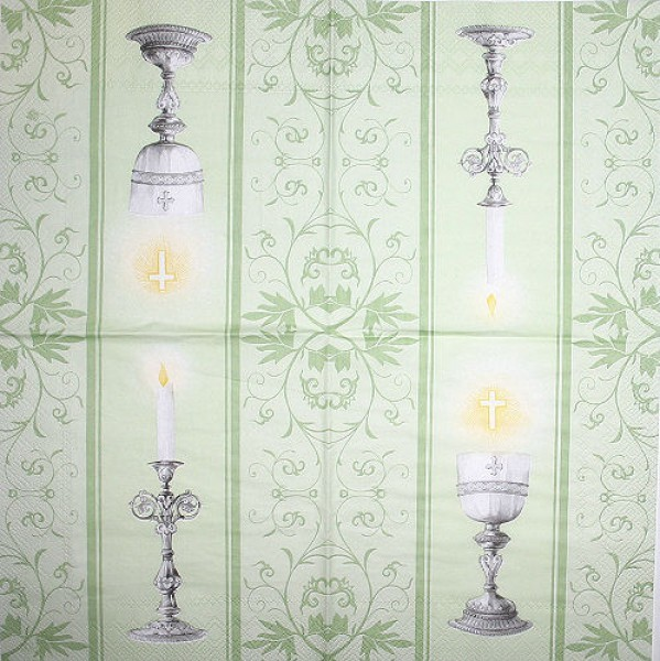 Serviette Communion green
