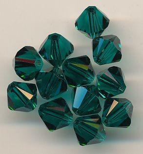Swarovski Glasschliffperlen 6mm emerald