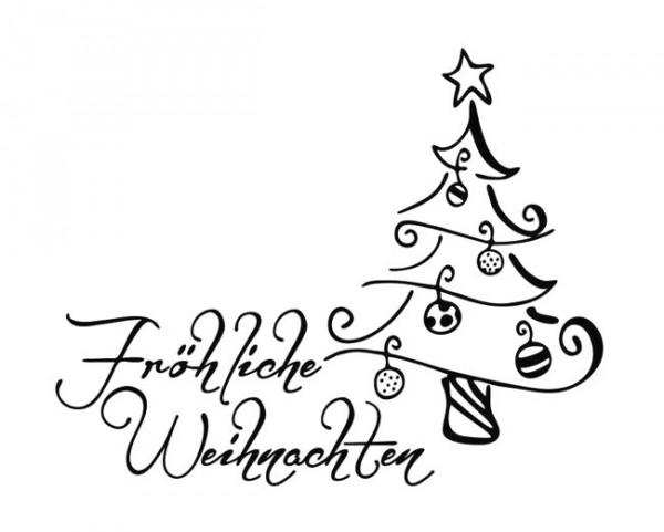 """Stempel """"Fröhliche Weihnachten"""""""