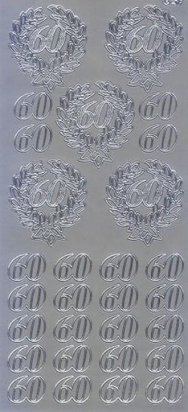 Sticker 60 silber
