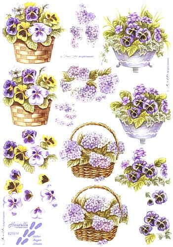 Motivbogen Blumenkorb