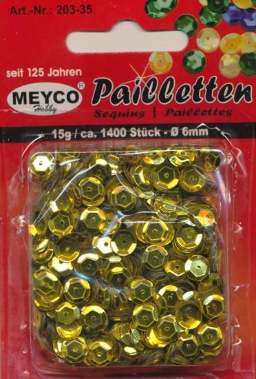 Pailletten gewölbt 6mm gold