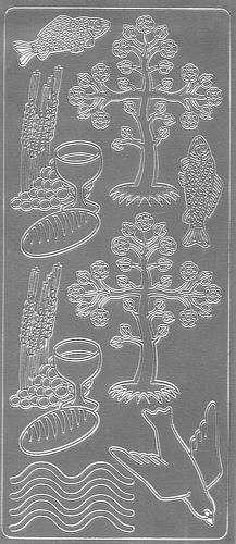 Sticker Tisch des Herrn silber